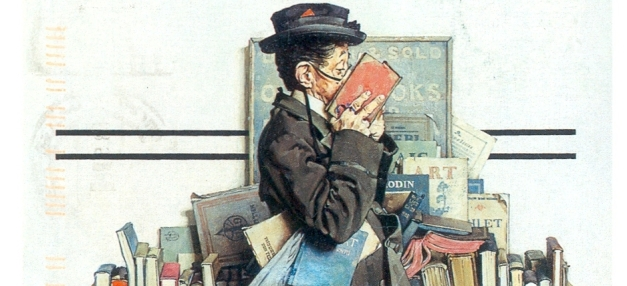 The Bookworm (1926), de Norman Rockwell.