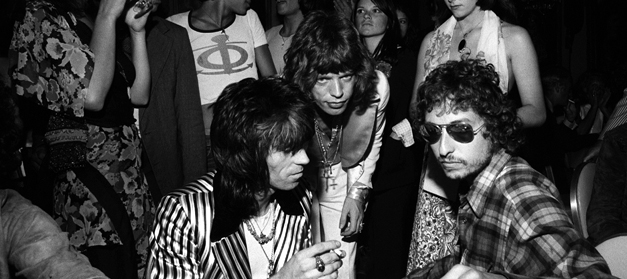 Keith Richards, Mick Jagger & Bob Dylan